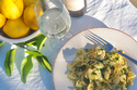 Butterfly Pasta with Zucchini and Prawns